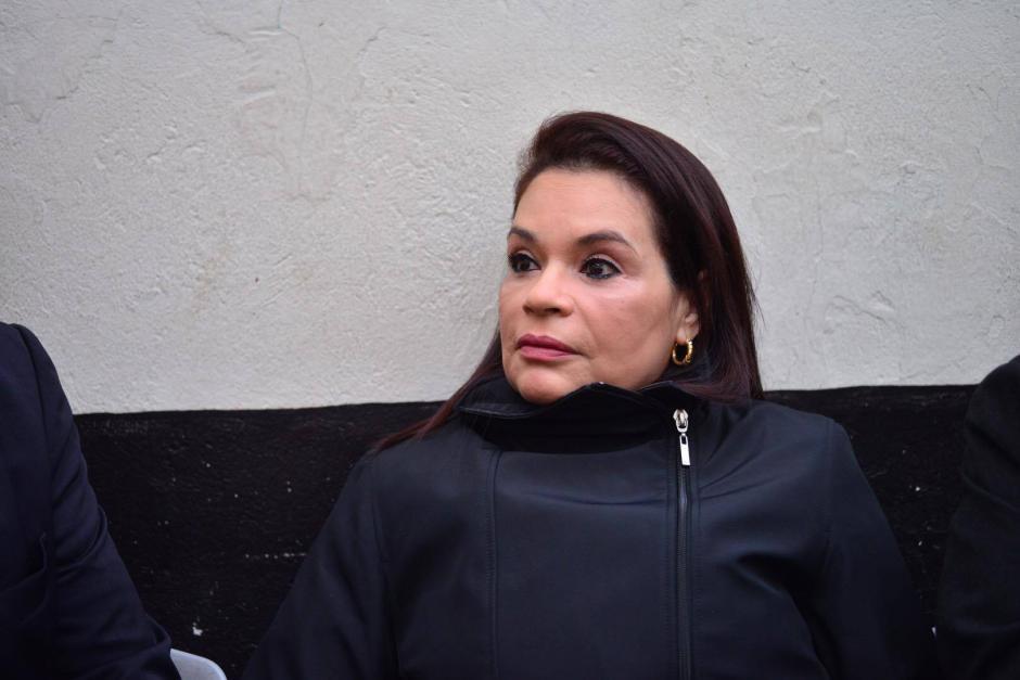 Roxana Baldetti llegó esta mañana a un juzgado de Villa Nueva para ofrecer su primera declaración por el caso del Lago de Amatitlán. (Foto: Jesús Alfonso/Soy502)