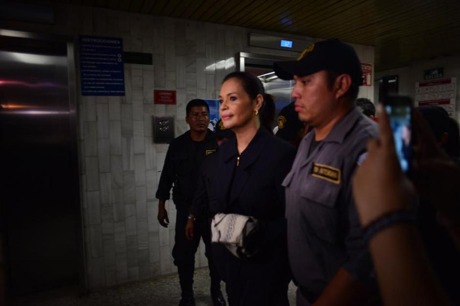 Baldetti fue trasladada desde la cárcel de Santa Teresa.(Foto: Jesús Alfonso/Soy502)