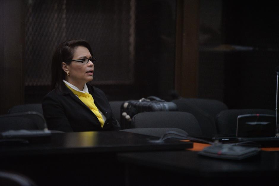 La exfuncionaria Roxana Baldetti en la audiencia de primera declaración por el caso TCQ. (Foto: Wilder López/Soy502)