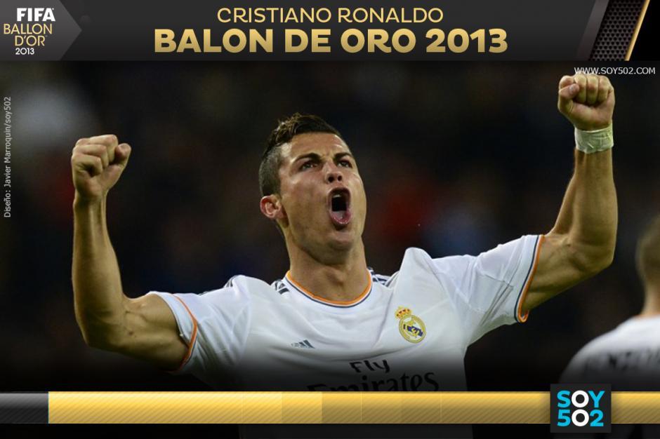 Cristiano Ronaldo posee dos premios al Balón de Oro, uno lo ganó en 2008 y el otro corresponde al 2013