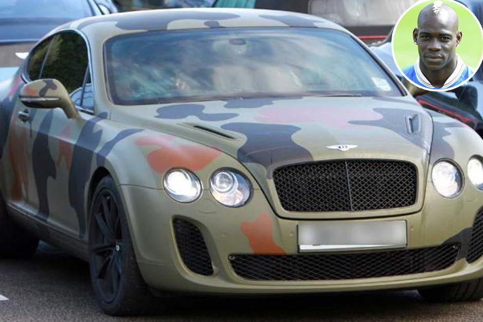 El Bentley Continental GT, de Mario Balotelli. Tras comprarlo, lo camufló al estilo militar, siguiendo la moda de sus botas y ropa preferida. El Bentley Continental GT es un automóvil deportivo de gran turismo del fabricante inglés Bentley.