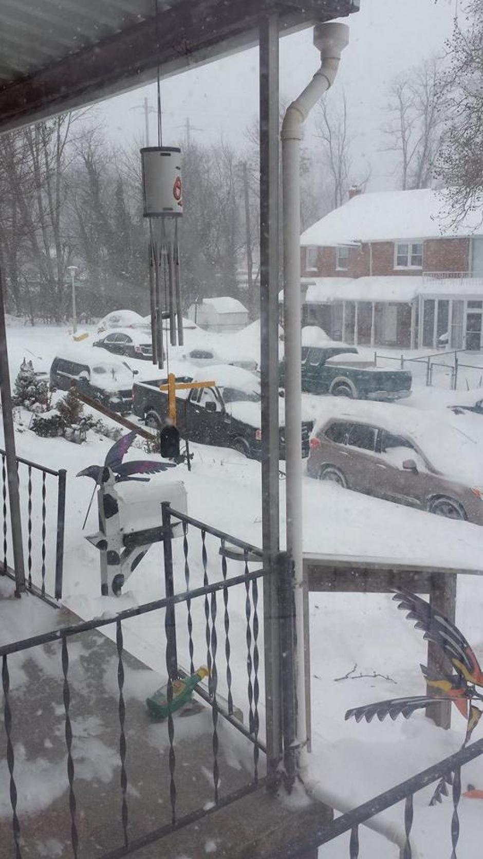 En Maryland, muchos hogares se quedaron sin el servicio de energía eléctrica. (Foto: Facebook/Jenner Aguirre)