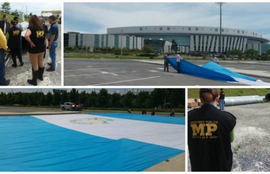 El MP mantuvo durante varios días la bandera, el asta y el motor, posterior se entregó a la Senabed para su administración. (Foto: MP)