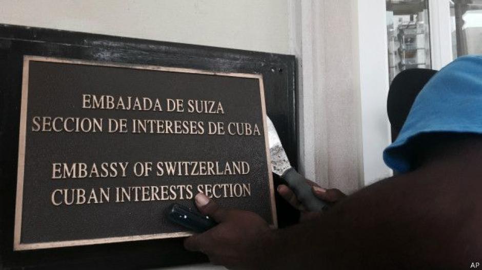 A partir de 1977 el edificio sirvió de sede a la sección de intereses de Cuba, que operaba bajo amparo diplomático suizo. (Foto: BBC)