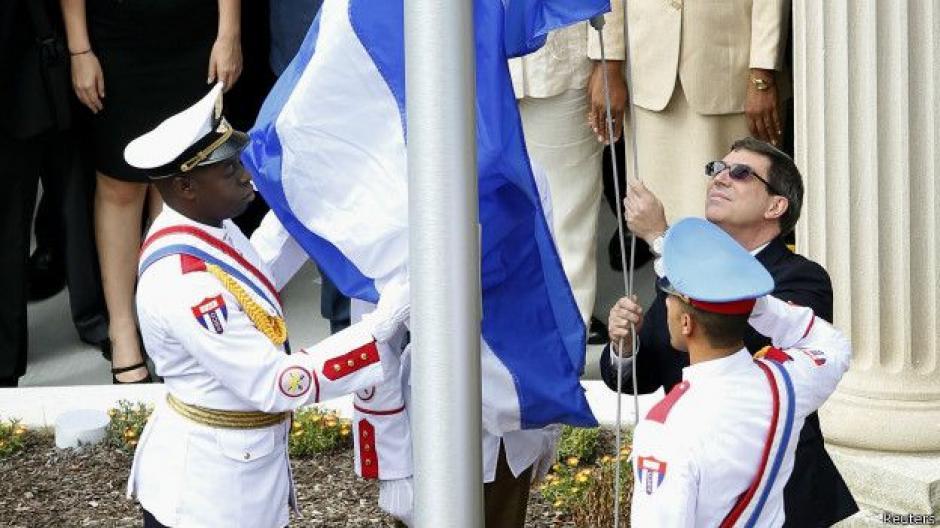 El minsitro de Relaciones Exteriores de Cuba viajó a Washington para marcar el restablecimiento de lazos diplomáticos. (Foto: BBC)