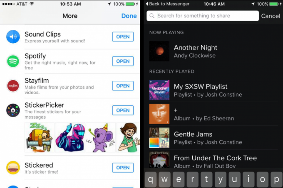 Si un tu amigo te comparte música solo tienes que darle click y se abrirá inmediatamente la aplicación. (Foto: bandt.com)