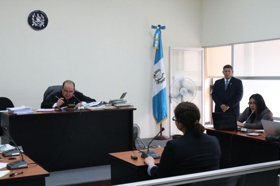 Este miércoles 2 de noviembre inició la audiencia de primera declaración de los implicados en el caso Bantrab. (Foto: Alejandro Balán/Soy502)