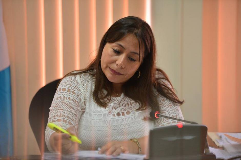 La Jueza Sexta de Primera Instancia Penal, Silvia de León, quien ligó a proceso a Banús por la muerte del ciclista. (Foto: Wilder López/Soy502)