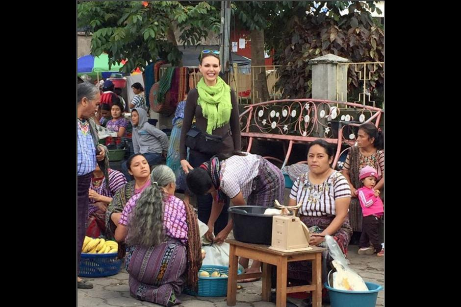 En su tiempo libre, Bárbara camina por el mercado local disfrutando de la vida rural de Guatemala.(Foto: Bárbara Palacios)