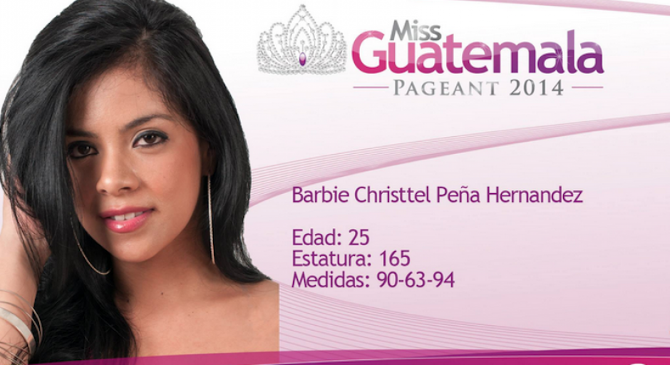 Barbie Peña representa a Guatemala Oeste. (Foto: Miss Guatemala oficial)