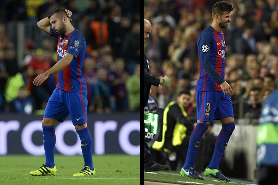 El Barça pierde a dos de sus piezas en defensa. (Foto: AFP)