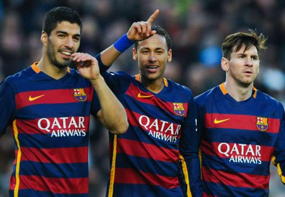 Neymar, Messi y Suárez son los mejor pagados de Barcelona. (Foto: Twiter)