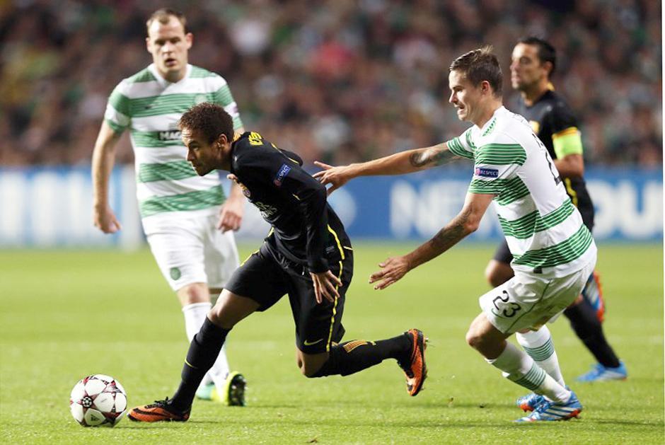 Neymar mostró un poco de su magia frente al Celtic. (AFP).