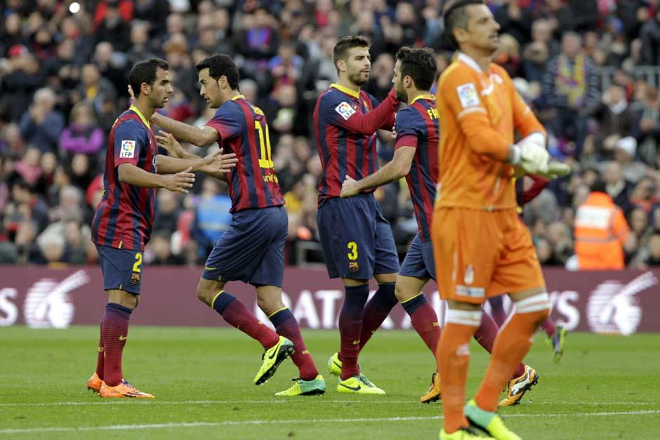 El Barcelona derrotó al Granada por 4-0 en la primer vuelta de la Liga, hoy necesitan otro triunfo para seguir vivos en la lucha por coronarse en España