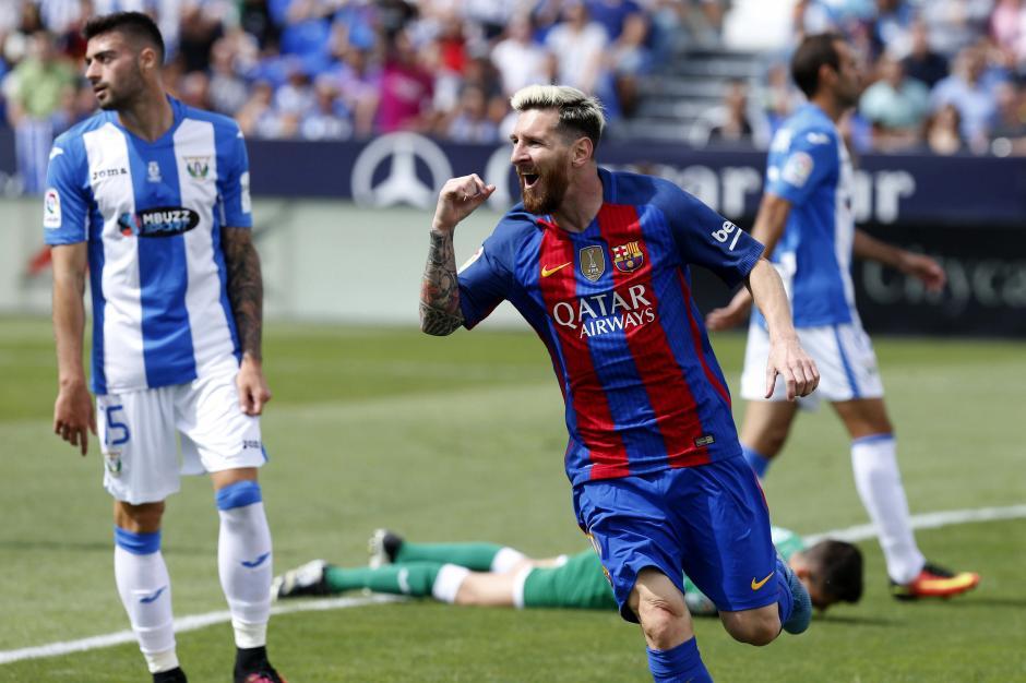 Messi anotó doblete para Barcelona en su triunfo ante Leganés, por la Liga de España. (Foto: EFE)