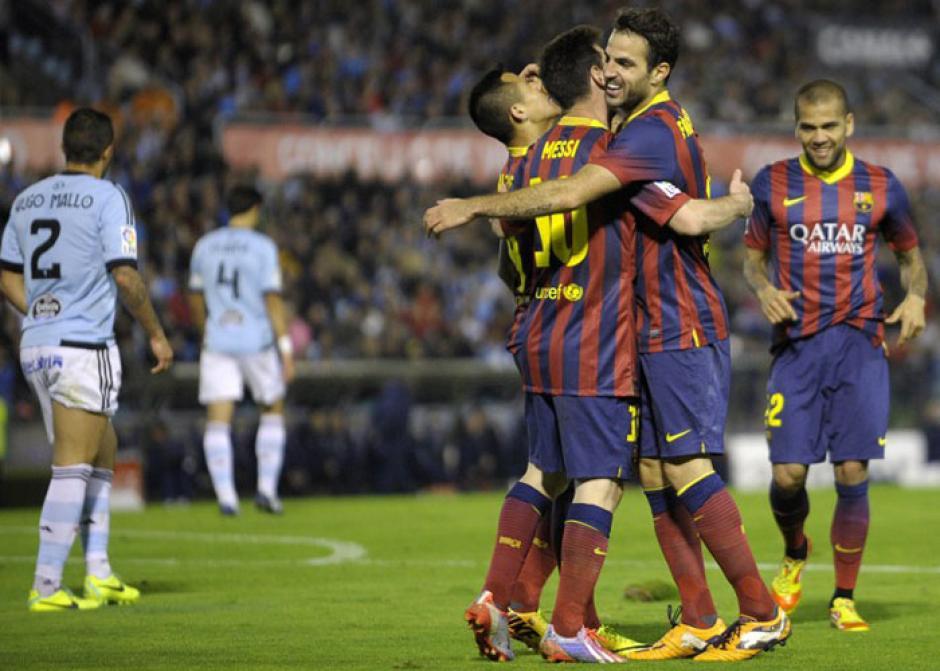 El Barcelona derrotó 0-3 al Celta de Vigo el 29 de octubre de 2013 durante la primera vuelta de la Liga