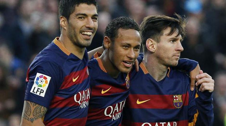 Suárez, Messi y Neymar fueron los anotadores del juego. (foto: urgente24.com)