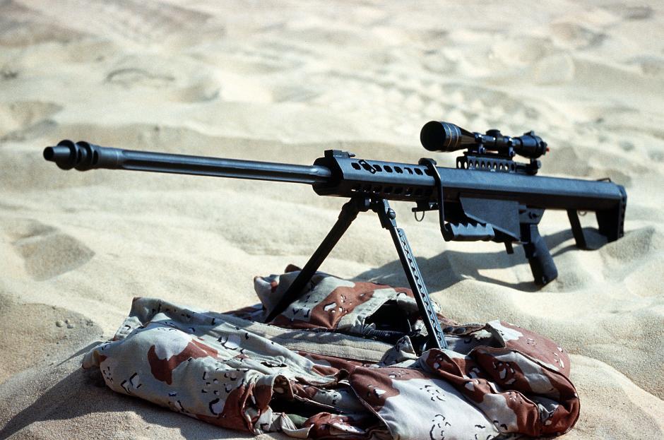 """El Rifle New Barrett .50 encontrado en un arsenal propiedad de """"El Chapo"""" es uno de los más poderosos del mundo."""