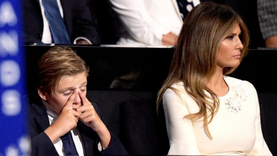 Barron es el hijo menor de Trump y tiene 10 años. (Foto: www.usmagazine.com)