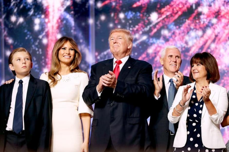 Donald Trump dio un discurso de 75 minutos durante el Cierre de la Convención Nacional. (Foto: www.usmagazine.com)
