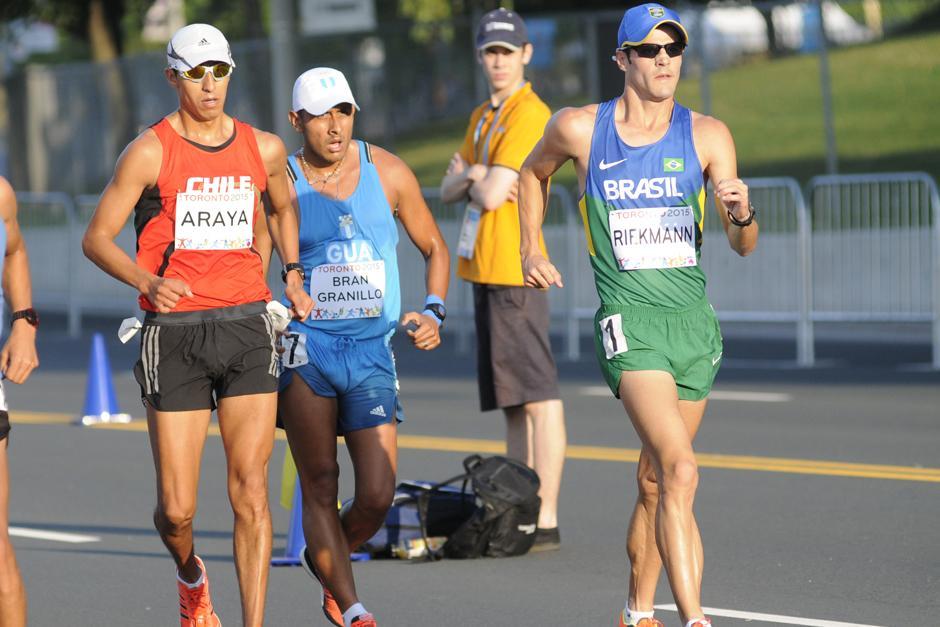 Mario bran Granillo también representó a Guatemala en la prueba de marcha de 50 kilómetros. (Foto: Pedro Mijangos/Soy502)