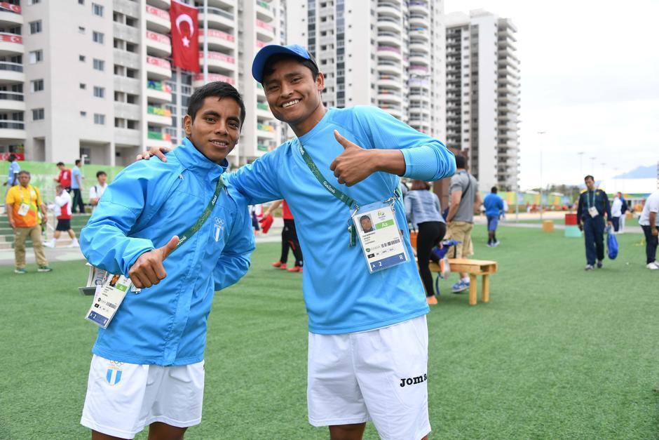 Erick Barrondo y José Raymundo están listos para la prueba de 20 kilómetros de marcha.