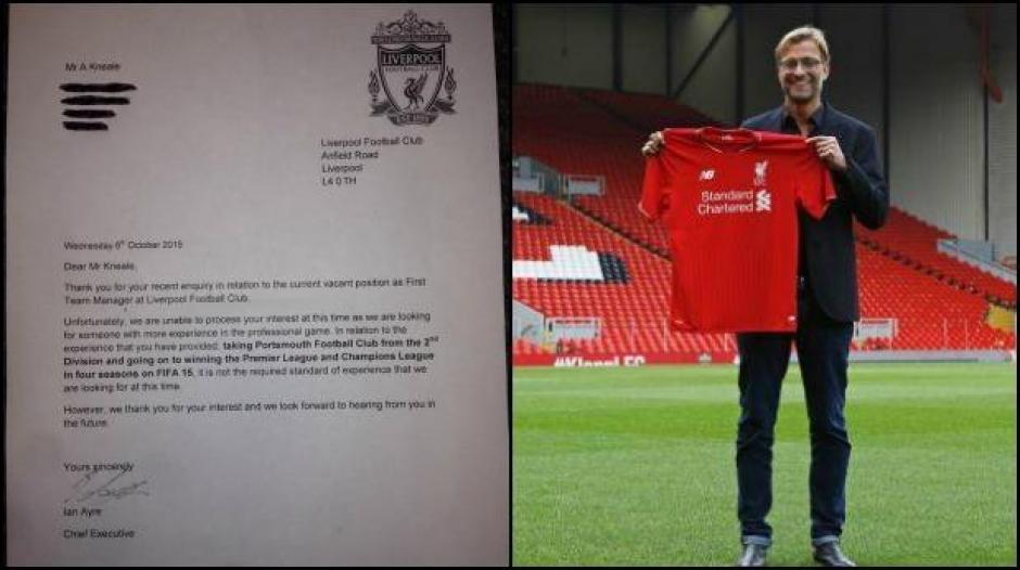 Jürgen Kloop es el nuevo técnico del Liverpool pero antes de llegar un joven jugador de FIFA 15 optó por su puesto
