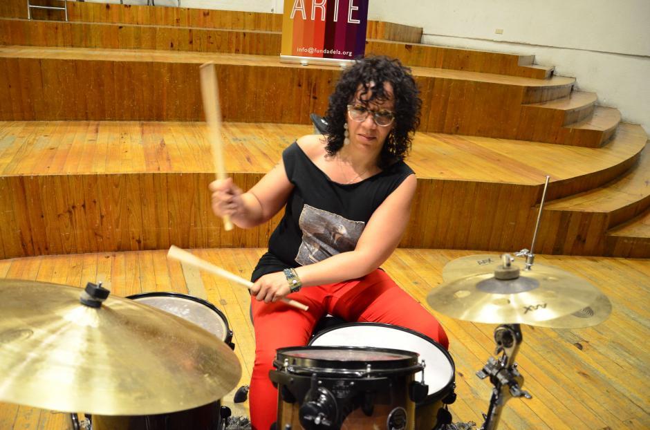 La compositora y baterista estadounidense LaFrae Sci visitó nuestro país. (Foto: Selene Mejía/Soy502)