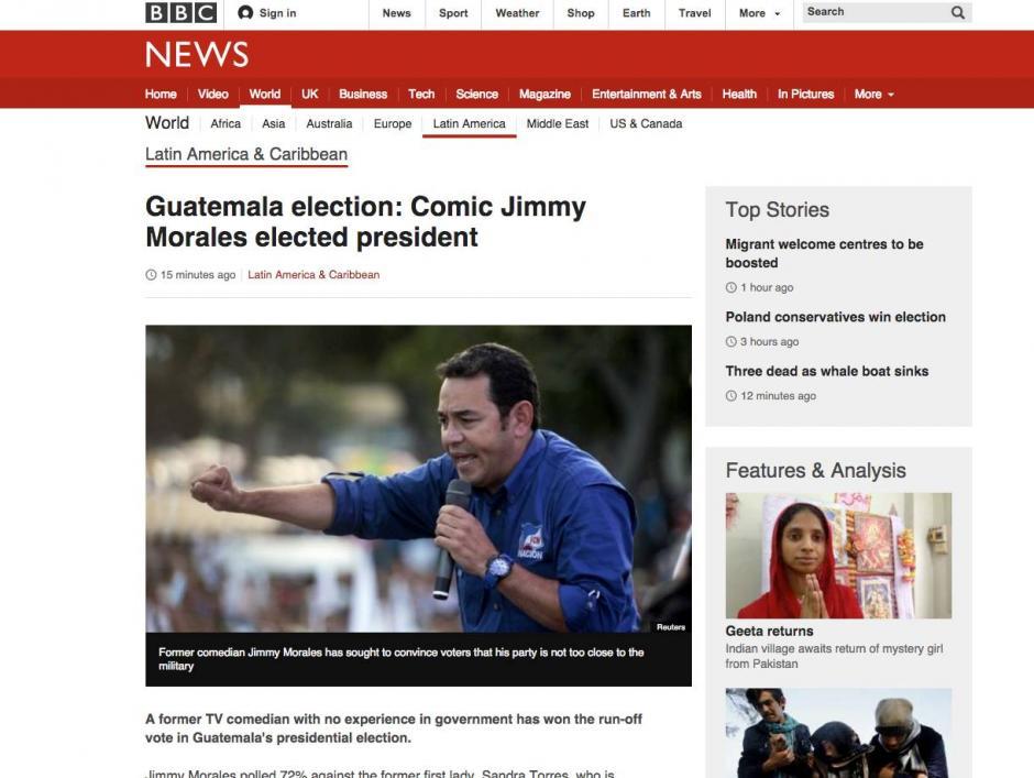 BBC hace referencia a la carrera de cómico de Morales.