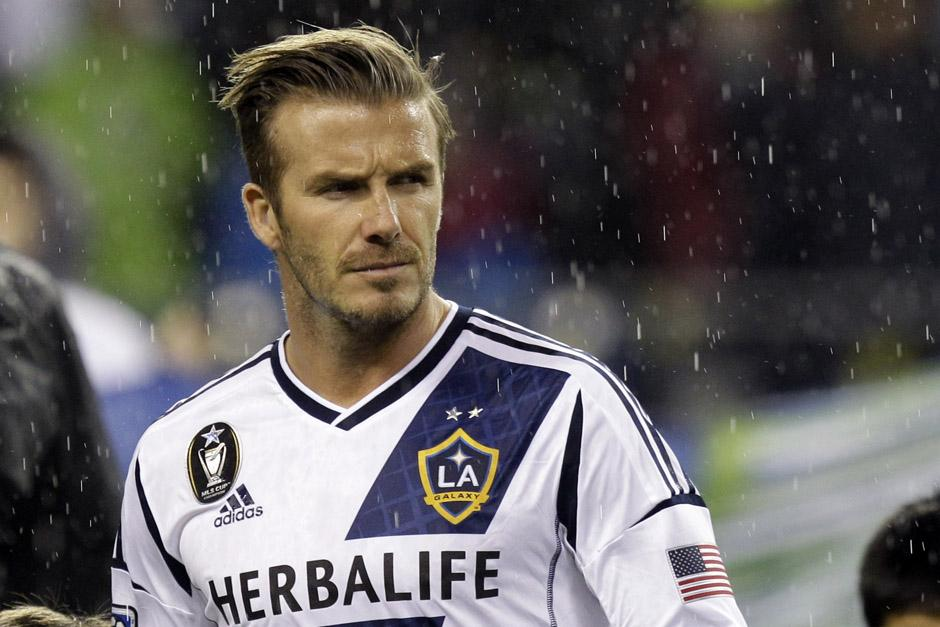 David Beckham jugó junto a Carlos Ruiz en el Galaxy de la MLS.