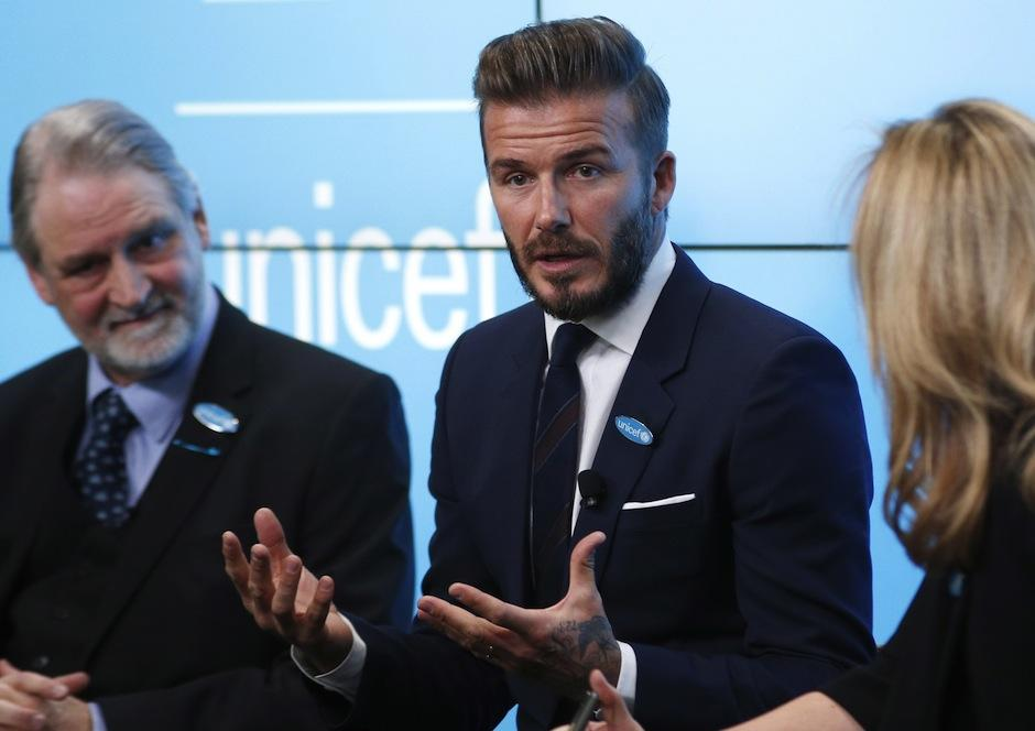 David beckham se habría unido a Unicef con un oscuro propósito. (Foto: IBTimes UK)