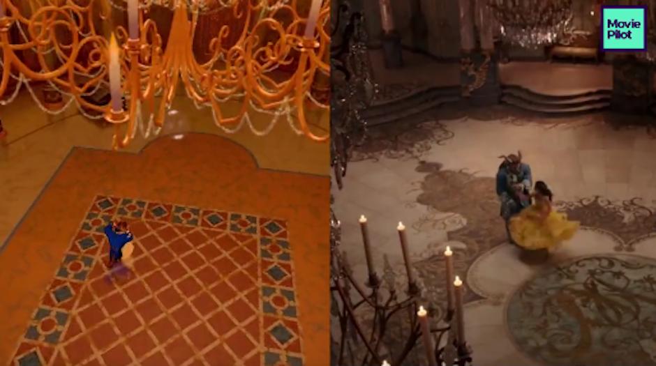 El adelanto de las películas de la Bella y la bestia fue comparado para apreciar sus similitudes. (Foto: Movie Pilot)