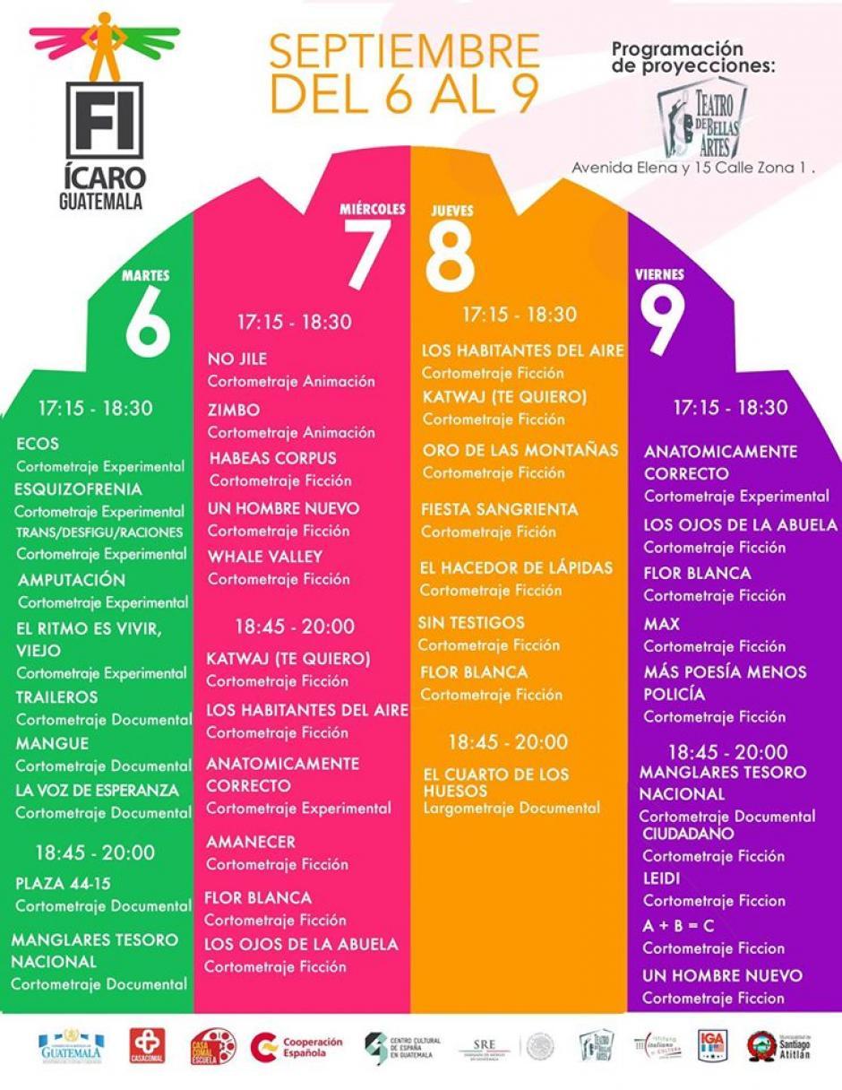 Esta es la programación del Teatro de Bellas Artes. (Foto: Festival Ícaro)