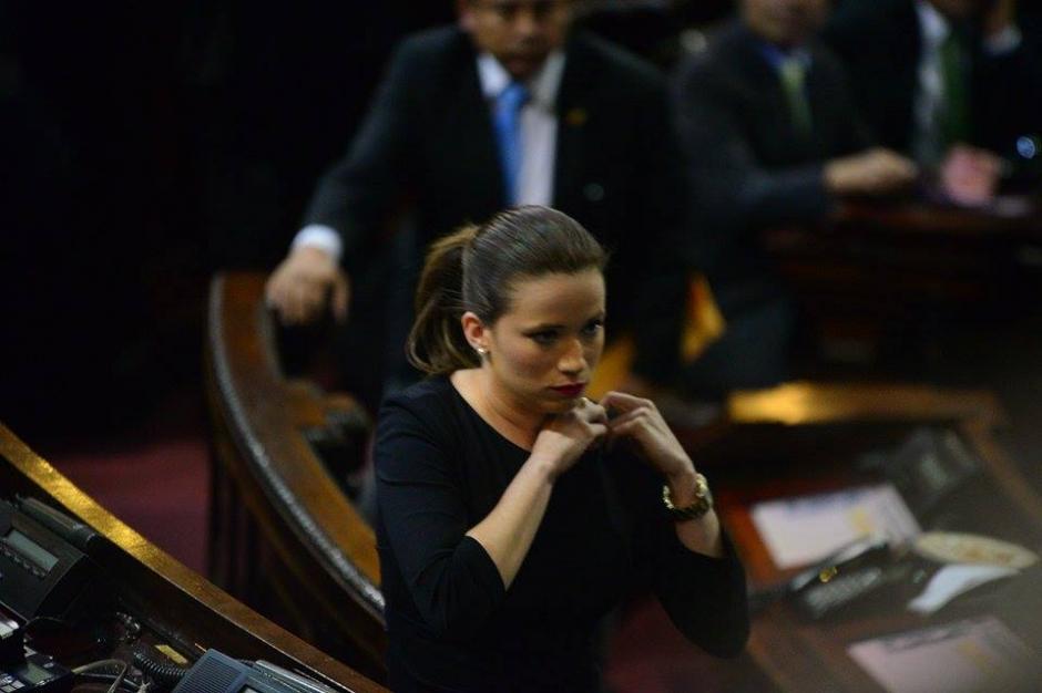 Daniela Beltranena fue juramentada como nueva diputada en el Congreso. (Foto: Wilder López/Soy502)