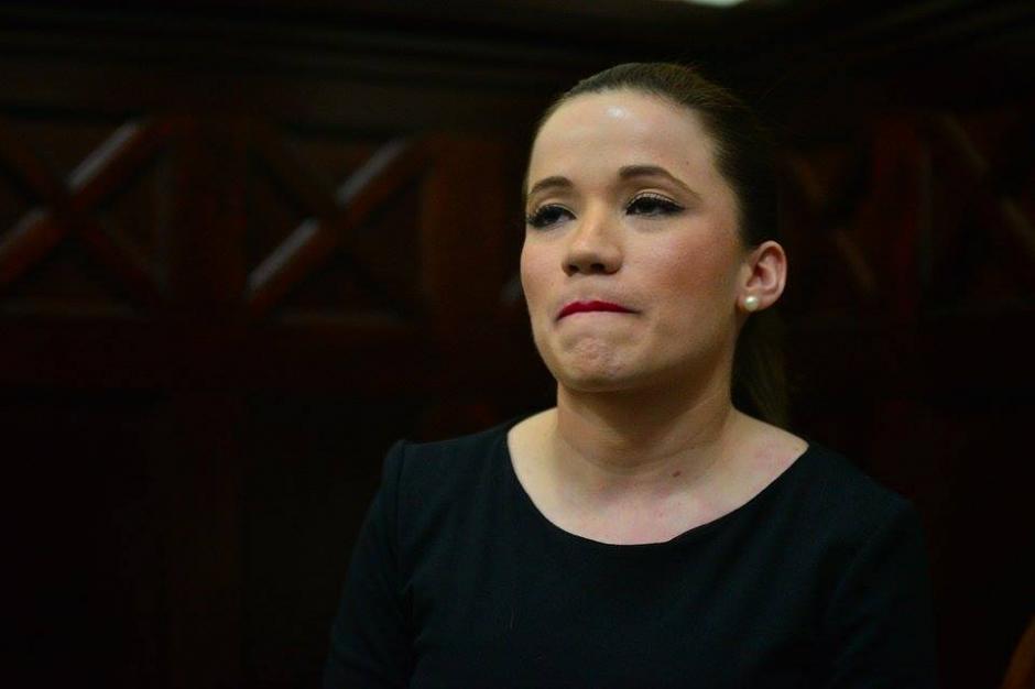 Antes de su ingreso al Hemiciclo en el Congreso, Daniela Beltranena esperó en la sala de la Junta Directiva. (Foto: Wilder López/Soy502)