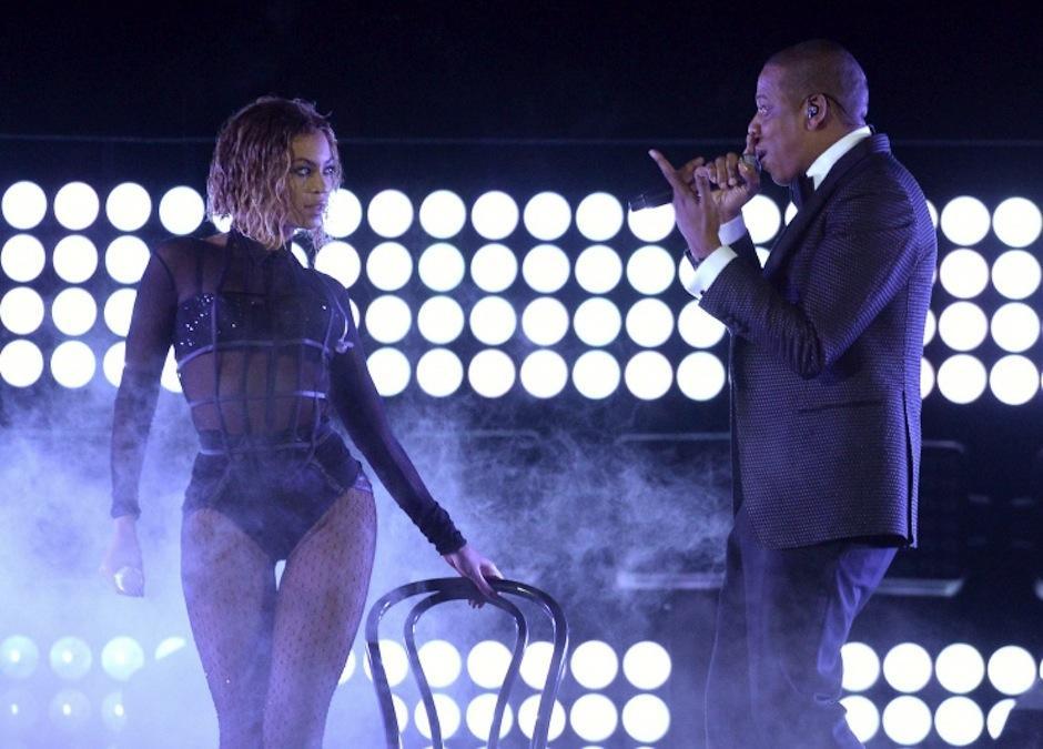Beyoncé abrió la gala junto a su esposo Jay Z, en una presentación muy sensual. (Foto: Grammy)
