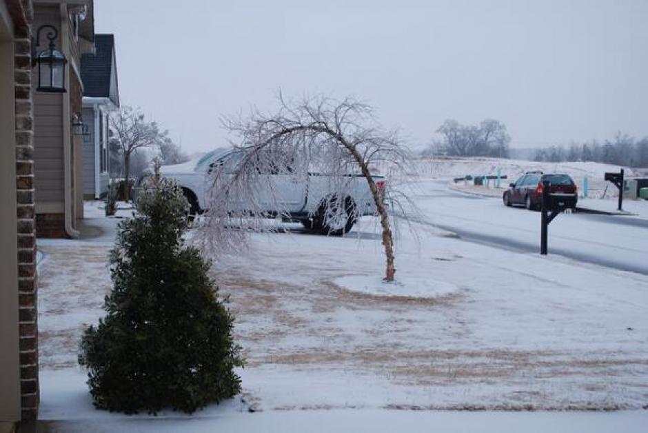 Vista de los efectos de la tormenta de nieve Pax en EEUU.
