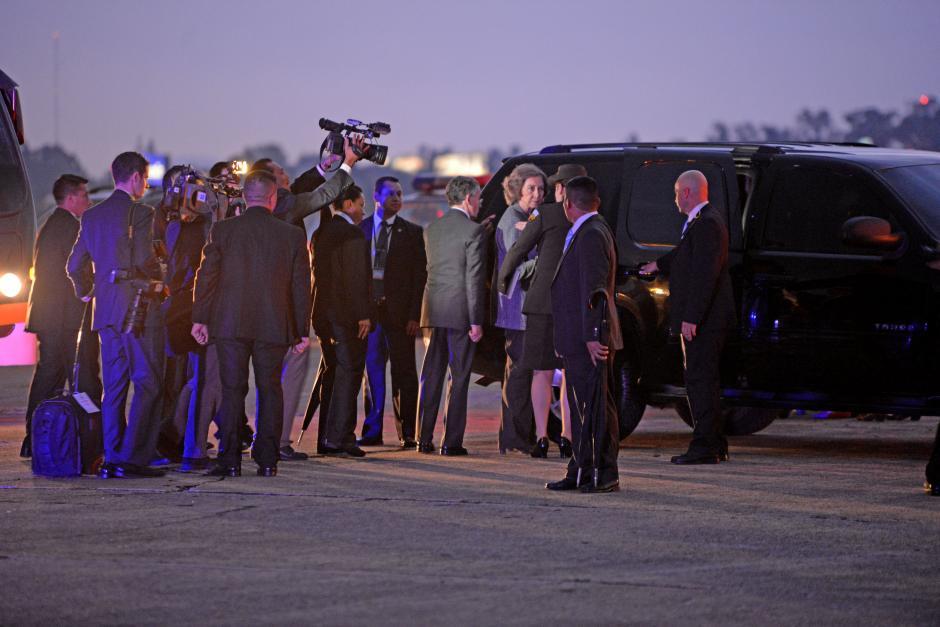 Tras su llegada a Guatemala, la Reina Sofía iniciará su agenda oficial este martes. (Foto: Esteban Biba/ Soy502)