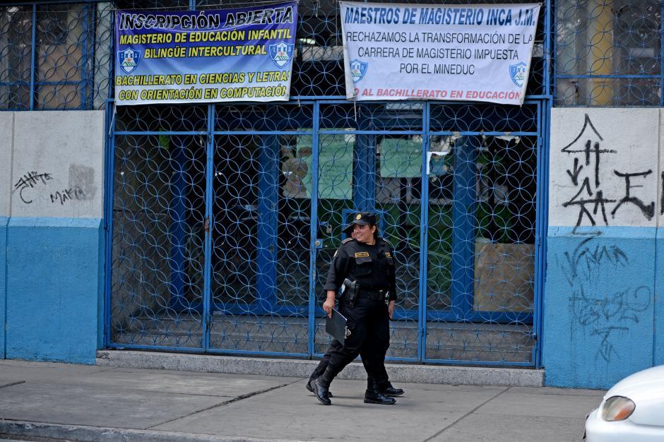 Según el Ministro de Gobernación se ampliará la seguridad en las escuelas públicas. (Foto: Esteban Biba/Soy502)