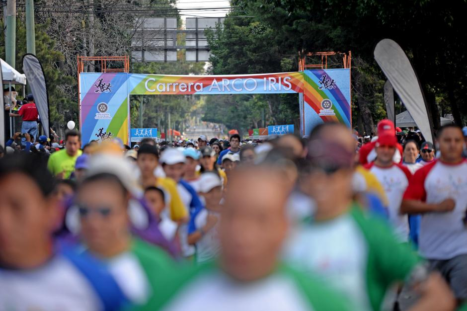 Cerca de 7 mil participantes asistieron a la Carrera Arco Iris. (Foto: Esteban Biba/Soy502)