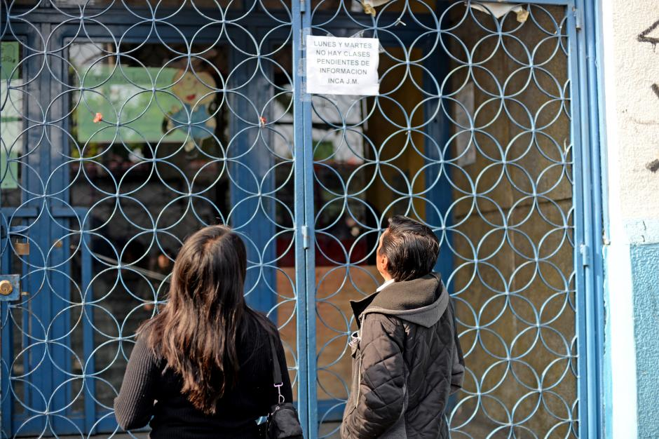 Las clases en el INCA se suspendieron este lunes y martes. (Foto: Esteban Biba/Soy502)