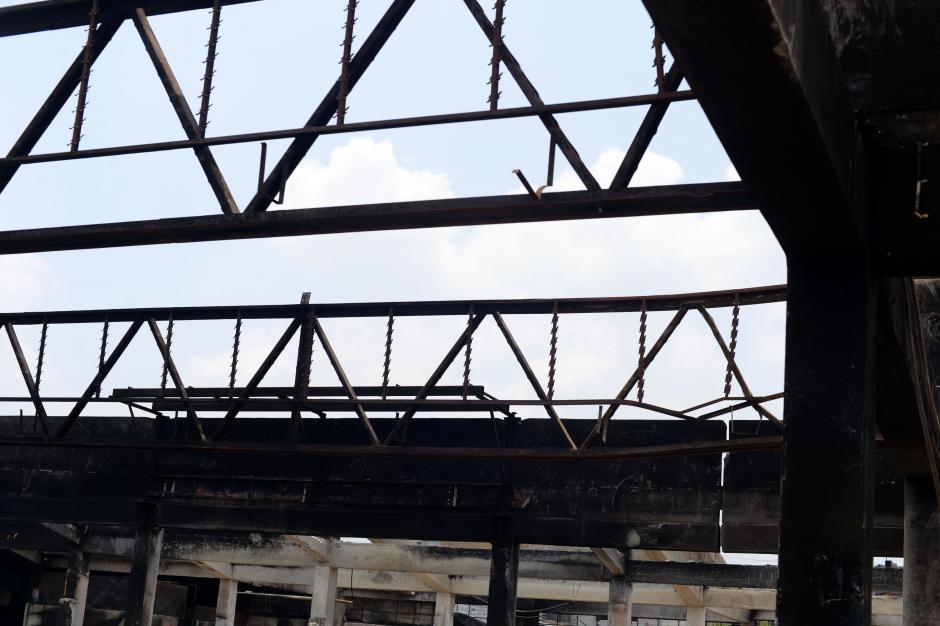 El deterioro de las estructuras es visible en todas las áreas en donde el fuego causó estragos. (Foto: Esteban Biba/Soy502)