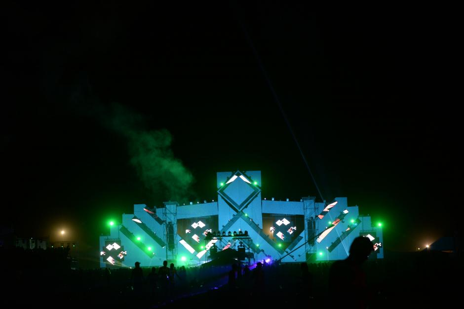 El escenario de música electrónica fue el más dinámico. (Foto: Esteban Biba/Soy502)