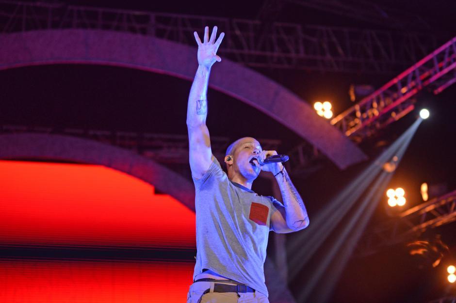René de Calle 13 prendió al público del festival por más de una hora. (Foto: Esteban Biba/Soy502)