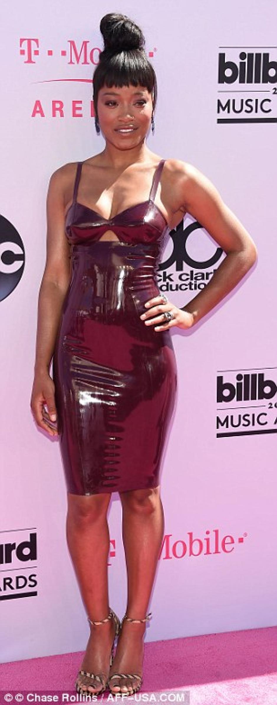 Keke Palmer eligió un sexy vestido de látex que atrapó miradas. (foto: Chase Rollins/AFF-USA.COM)