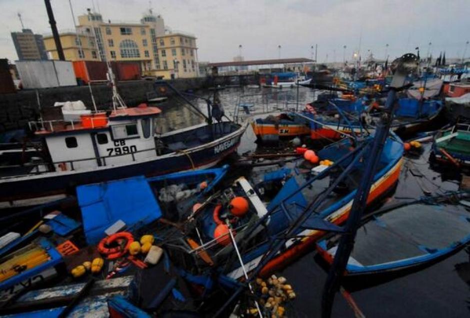 La alerta de tsunami terminó en la madrugada del 2 de abril. Así se ven los daños en la localidad de Iquique, Chile, tras el terremoto. (Foto:Efe)