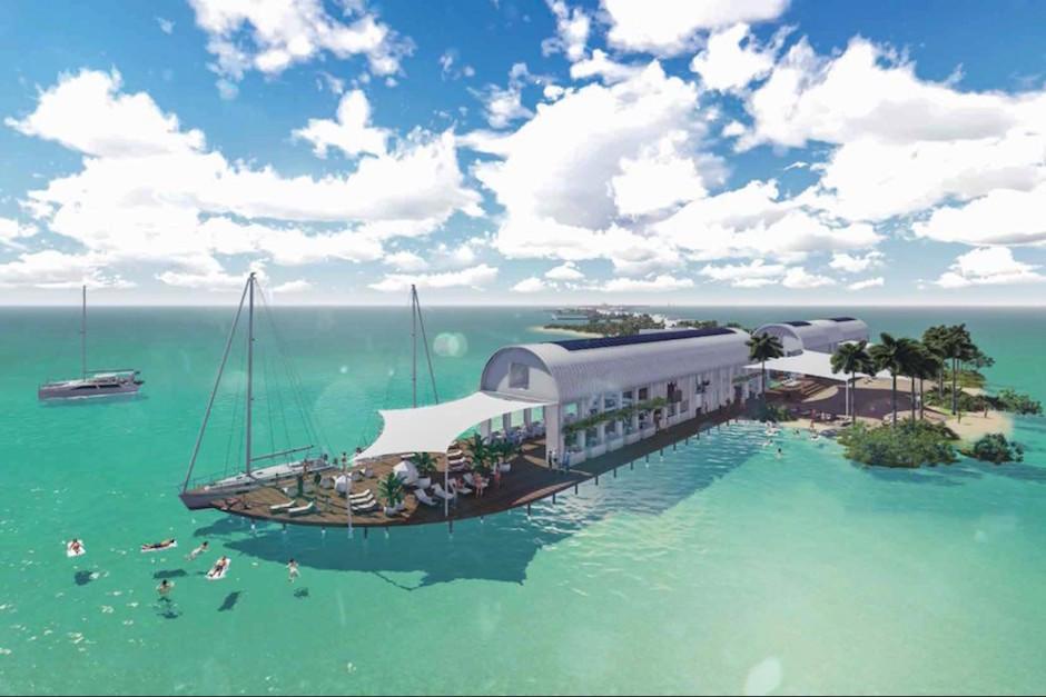 Así es el hotel ecológico que Leonardo DiCaprio construye en Belice. (Foto: Sanpedrosun.com)