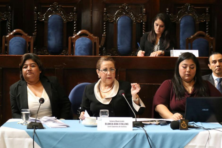 La magistrada no ha asistido a las sesiones de la CSJ tras perder la inmunidad. (Foto: Archivo/Soy502)