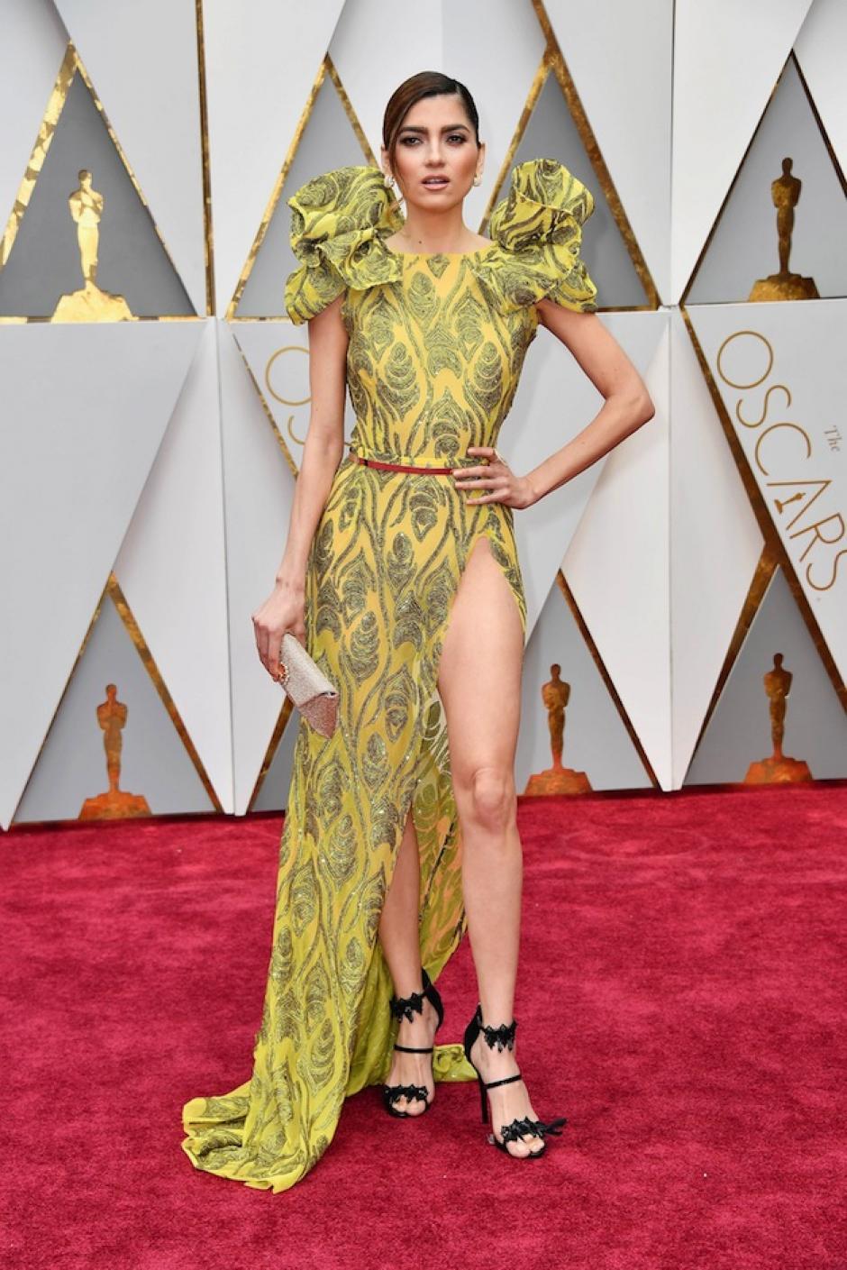 La poco conocida actriz Blanca Blanco lució este modelo. (Foto: AFP)