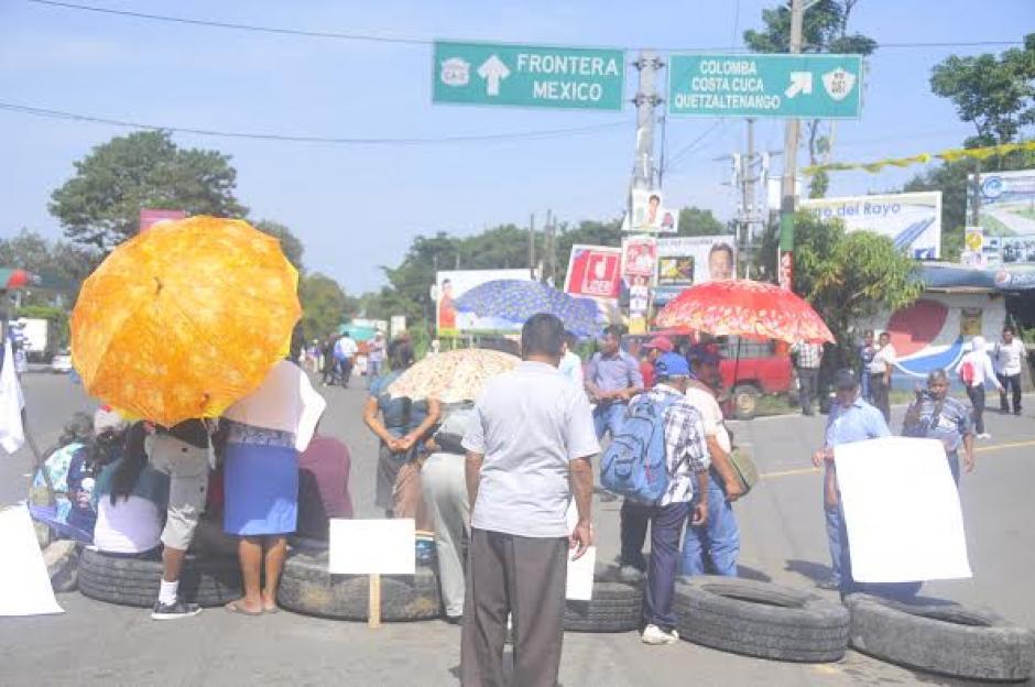 En la ruta que conduce a Colomba en Quetzaltenango se reportan bloqueos. (Foto: Jorge García/Nuestro Diario)